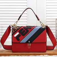 Fendi Women Fashion Leather Handbag Crossbody Shoulder Bag
