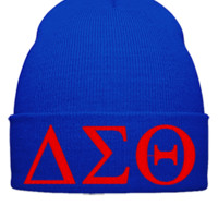 DELTA SIGMA  embroidery Hat - Beanie Cuffed Knit Cap