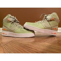 Nike Air Force 1 High 'Olive Aura' sports casual high-top sneakers shoes