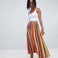 Reclaimed Vintage inspired stripe midi skirt at asos.com