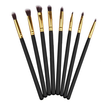 2017 8PCS Professional Makeup brushes Set Eye Eyeliner Concealer Powder Foundation Eyeshadow Cosmetic brush Pinceis de maquiagem