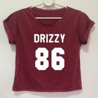 Drake Shirt  CROP top DRIZZY 86 T-shirts Crop top  Drizzy shirt 86