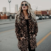 TUHAO Female Jacket Comfortable Women'S Winter Coat 2018 Luxury Faux Fur Leopard Artificial Fur Coat rabbit fur coat
