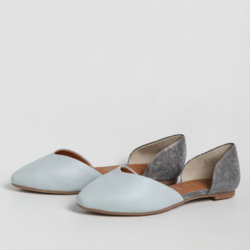 Up All Night Flats In Light Blue By BC Footwear
