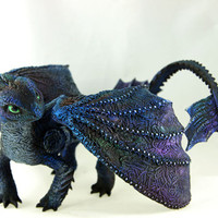 Toothless Night Fury Figurine Dragon Sculpture httyd How to train your dragon fantasy animal creature art sculpture magic gif