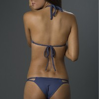 "Frankies Bikinis ""Oceanside"" Braided Bottom"