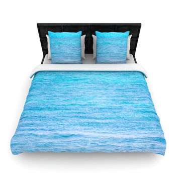"""Catherine McDonald """"South Pacific II"""" Ocean Water Woven Duvet Cover"""