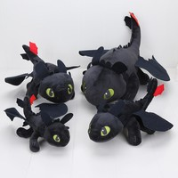 23-55cm Anime How to Train Your Dragon plush toys Toothless plush Night Fury Plush stuffed animal doll toy Christmas kids gift