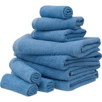 10-Piece Complete Towel Set With Hand Washcloths and Bath Towels