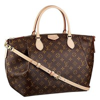 LV Women Shopping Leather Tote Louis Vuitton Turenne Handbag Shoulder Bag Purse (GM)