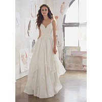 Blu by Morilee Mary 5512 Boho Chiffon A-Line Wedding Dress