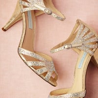 Champagne Sparkle Heels