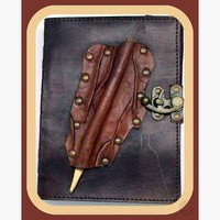 Pencil Closure Leather Latched Journal