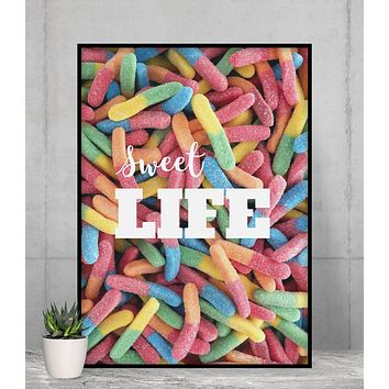 Sweet Life Gummy Candy Poster