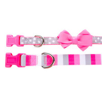 Top Paw® 2-Pack Stripe & Polka Dot Puppy Collar Set