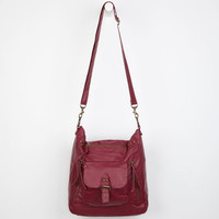 T-Shirt & Jeans Large Hobo Handbag Burgandy One Size For Women 19440532001