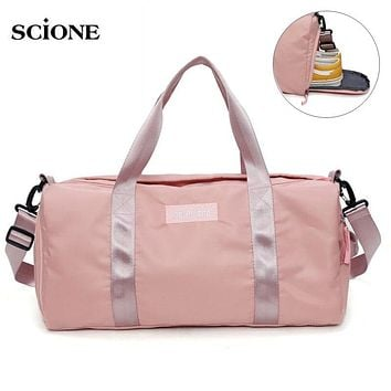 Yoga Bag Fitness Gym Bags Dry Wet Tas Handbags For Women and Men Shoes Travel Training Duffel 4 Colors and 2 Styles with FREE SHIPPING
