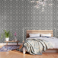 Black on White Wallpaper by rosiebrown