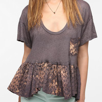 Urban Outfitters - One-Of-A-Kind Eyelet Peplum DIY Tee