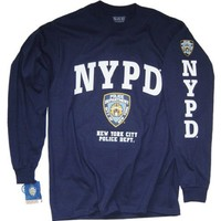 NYPD Shirt Long Sleeve T-Shirt Clothing Apparel Officially Licensed Merchandise