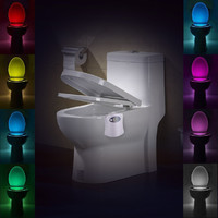 LumipartySensor Motion Activated LED Toilet Night Light Battery-powered 8 Changing Colors Magic Toliet LED Sensor Lamp