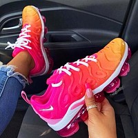 Nike Air Max Vapormax Plus Popular Women Casual Sport Running Shoes Sneakers Pink&Yellow