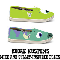 KOOAK Kustoms Disney Pixar Monsters Inc-Inspired Toms Flats