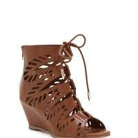 Brown Hit The Road Gladiator Wedges
