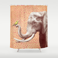 New Friends 2 by Eric Fan and Garima Dhawan Shower Curtain by Eric Fan