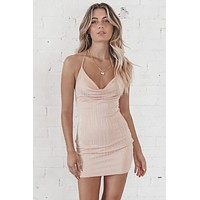 Honeymoon Phase Rose Gold Mini Dress
