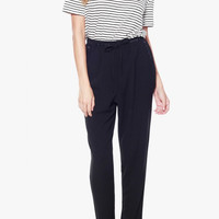 Loose Fit High Waisted Cigarette Pants