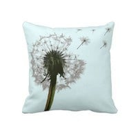 Dandelion blowing, seeds scattering pillows by Clareville Designs