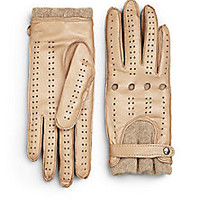 Labonia - Leather Driving Gloves - Saks Fifth Avenue Mobile