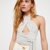 Free People Stripes and Crops Top