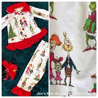 New Fall Girls The Grinch On Parade Christmas Pjs CH
