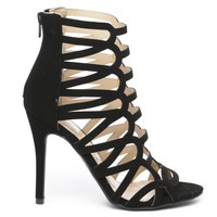 JULIANNA CUT OUT HEEL - BLACK