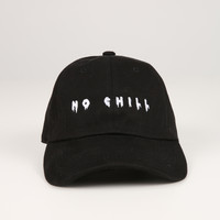 The No Chill Dad Hat in Black