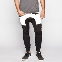 Uncle Ralph Reflective Waist Mens Mesh Jogger Pants Black  In Sizes