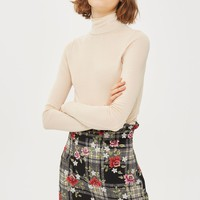 Fine Knitted Funnel Neck Top - Jumpers & Cardigans - Clothing