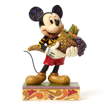 Jim Shore Disney Traditions Bountiful Blessings Autumn Mickey Mouse - 4046029