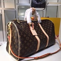 LV Louis Vuitton OFFICE QUALITY MONOGRAM CANVAS KEEPALL 50 SHOULDER BAG TRAVEL BAG