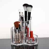 Easybuystore ®Acrylic Cosmetic and Makeup Brush Holder Pencil Cup - Organizer