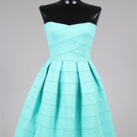 Retro Style Strapless Fit & Flare Dress