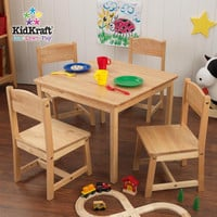 Kidkraft Natural Farmhouse Table And Four Chairs