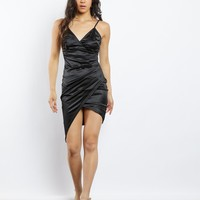 Charlotte Satin Wrap Dress