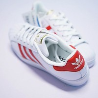 "Adidas superstar Sneaker ""White&Red"" B27139"