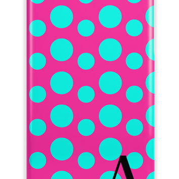 POLKA DOTS - MONOGRAMMED PHONE CASE FOR GIRLS