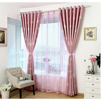 Pink Anself 100*250 cm Cloud Pattern Door and Window Curtains