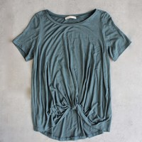 BSIC - front knot tee - teal