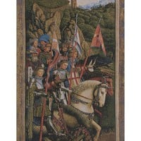 Knights of Christ I European Tapestry Wall Hanging